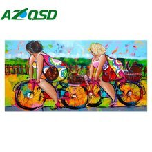 AZQSD 3D Diy Diamond Embroidery Painting Cartoon Sexy Women Painting Home Decoration Diamond Painting Cross Stitch BB4062(China)