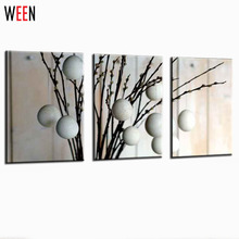 Abstact Pictures Drawing Canvas Printing Art Strange White Circles New Fashion Wall Painttings Picture For Living Room(China)