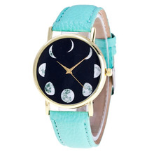 Vintage Moon Pattern Quartz Watch Women Fashion Leather Sports Female Clock Women's Casual Cheap Wrist Watches Relogio Reloj #LH