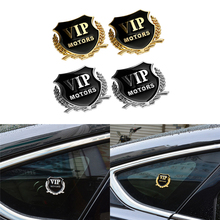 2pcs/lot 3D Metal Car-Styling VIP Emblem Stickers For BMW Audi VW KIA Toyota Ford Nissan Mazda Chevrolet Stickers Accessories