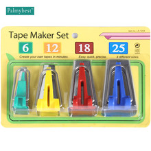 Fabric Bias Tape Maker Set 4 Size: 6mm 12mm 18mm 25mm Binding Tool Sewing Quilting Accessories Hemming Makers set  DIY Patchwork