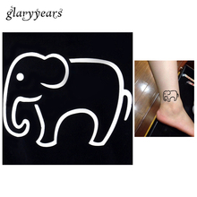 Buy Small Elephant Tattoos And Get Free Shipping On Aliexpress Com