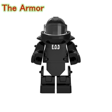The Armor DIY Bricks Future Weapons Single Sale World War Anti-explosion Clothing Building Blocks Toys For Children PGPJ4027