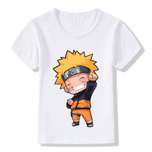 2017Boys/Girls Toddler Cute Uzumaki Naruto Children CUTE T-Shirts Summer Tops Short Sleeve Clothes Anime Baby Kids Tee,HKP2244(China)