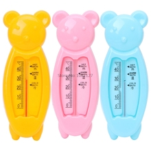 Baby Infant Lovely Plastic Floating Lovely Bear Bathtub Water Sensor Baby Bath Toy Thermometer Tester(China)