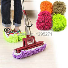 (Track Number)  Lazy Dust Cleaner Slipper Shoes Cover House Bathroom Floor Cleaning Mop 9zy0k
