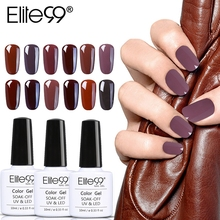 Elite99 10 ml café Café Color Gel esmalte de uñas remojar UV elegante marrón manicura Nail Art Gel barniz laca(China)