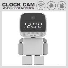 Robot Wireless WIFI  ip Camera HD 960P Clock Wi-fi Monitor Camera Support 64G TF Card Network Night Vision Security Camera