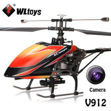 WLtoys V912 Large 2.4Ghz 4Ch Single Blade Remote Control RC Helicopter with Camera Gyro RTF Upgrade Version VS no camera version(China)