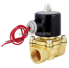 AC220V 3/4 Inch Brass Electric Solenoid Valve Water Air Fuels N/C 2W-200-20(China)