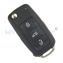Flip car remote key 202AD for VW Volkswagen Beetle Golf Eos Polo Sharan Tiguan 2011-2013 HU66 5K0837 202 AD ID48 434Mhz remtekey(China)