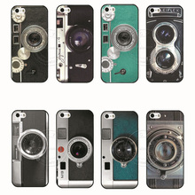 New Arrival Camera Style Pattern PC Hard Case Cover for Apple iPhone 4 4S 4G 5 5S 5G SE