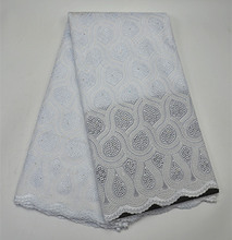 PR268-5!white!African swiss voile lace high quality fasion wedding lace African Fabric 100% Cotton Swiss Voile Lace