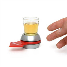 Hot Spin The Shot Glass Drinking Game Fun Party Gifts,Turntable Toys Drinking Game Shot Glass With Spinning Wheel Bar Games
