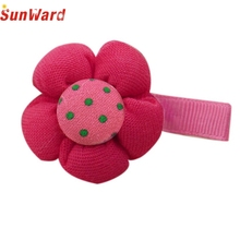 Hot Selling ! Wonderful Cute Candy Color Flower Hair Clips Baby Girl Hairpin Child Hair Accessories  Jan 20