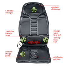 Heated Back Massage Seat Topper Car Home Office Seat Massager Heat Vibrate Cushion Back Neck Massage Chair Massage Relaxation(China)