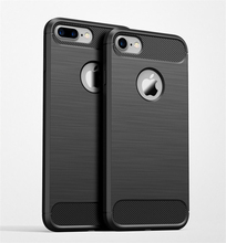 Most popular Shockproof Phone Case For iPhone X 8 7 7S 6 6s Plus 5 5s SE Case New Carbon Fiber Soft TPU Drawing Phone Case Back