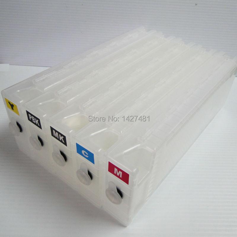 5pcs/set Refillable ink cartridge T7280 T5280 T3208 for Epson SureColor T7280 T5280 T3208 printer with permanent chip<br><br>Aliexpress