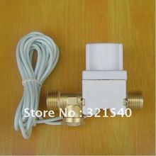 "Freeshipping 1/2""BSPP Brass Plastic Electric Solar Solenoid Valve 24VDC N/C Non-Return 3m Wire Heater Washer Wash Machine(China)"