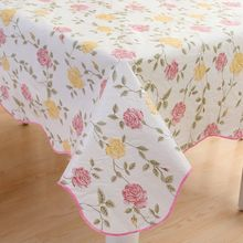 New style Printing Waterproof & Oilproof Wipe Clean PVC Vinyl  Tablecloth Dining Kitchen Table Cover Protector FABRIC COVERING
