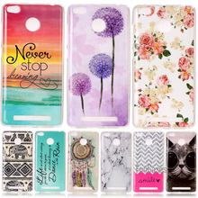 Cute Beer Cat Color Flower Cover Shell For Xiaomi Redmi 3S 3 S Red Rice Soft TPU Silicon Cases Coque Etui Capinha Dearm Marble