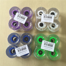 4PCS/Set 60X45mm 80A Wheels for Skateboard Longboard LED with Magnetic Core Flashing Cruiser Board Wheels