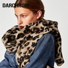 DARCHROW Leopard Printed Scarf Women Winter Blanket Scarf Warm Soft Cashmere Thicken Shawls Scarves for Women Lady(China)