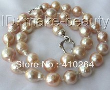 $wholesale_jewelry_wig$ free shipping stunning baroque pink Edison keshi reborn pearl necklace