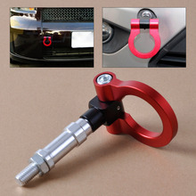 DWCX New Red Racing Screw Aluminum CNC Tow Towing Hook Trailer for Honda S2000 AP1 AP2 2000-2009 Honda Fit 2003-2005 2006 2007