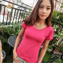 Buy 2017 Womens Clothing Summer Women T Shirt Short Sleeve O-neck Casual Cotton Solid Color Tops Tees Female Ladies T-Shirt free for $5.51 in AliExpress store