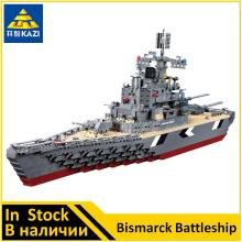 KAZI World War 2 The Bismarck battleship Compatible Military KY82012 Buidling Block Set Brand new Educational Toys for Boys(China)