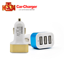 Hotsale Universal Vehicle 12V-24V 3 Ports USB Car Charger output  5V DC 2.1A / 1A/ 1A Multi-port USB Power Adapter free shipping