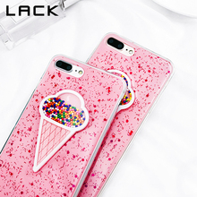 LACK Cute 3D Bling Ice Cream Phone Case For iphone 7 7 Plus Case Summer Glitter Soft Cover Dynamic Cases For iphone 7 Case(China)