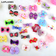 LAPLADOG Lovely Small Dog hair Accessories Grooming Lovely Princess Style Pet Bow Cat puppy Headwear Beauty Flower Bowtie ZL379