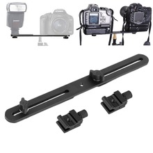 Universal Double End Light Stand Holder Flash Bracket Mount Tripod with 2 Hot Shoe Adapter Screws For Digital SLR Camera NEW(China)