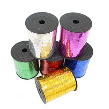 500 yards laser ribbons, balloons streamers, wedding party supplies. Happy birthday decoration balloon shiny ribbons