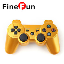 FineFun High Quality Wireless Bluetooth 3.0 double vibration Controller Games for ps3 Game Handle Built-in 450mAh Battery #A1556