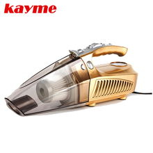 Kayme 12v mini car air compressor tyre inflator infaltion pump 100W handheld car vacuum cleaner auto portable dust brush for car(China)