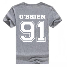 Mens T Shirts DYLAN O'BRIEN Letter Print Cotton Short Sleeve Man T Shirt 1D One Direction T-Shirt Slim Fit Round Neck Tops Tee