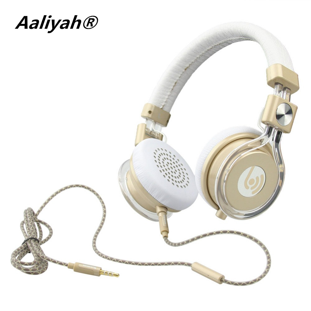 Aaliyah HM770 Headband Foldable Wired Headphones Headset w/ Mic For PC Table Cell Phone<br><br>Aliexpress