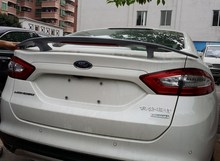 Primer grey unpainted ABS Car Rear Trunk Spoiler Wing For Ford 2013-2016 New Mondeo Fusion drilling needed with stop light(China)