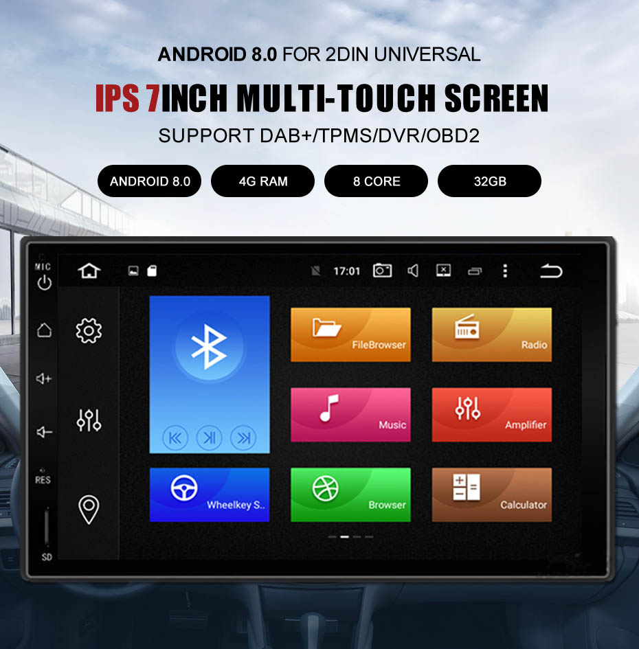 1 2 din universal touch