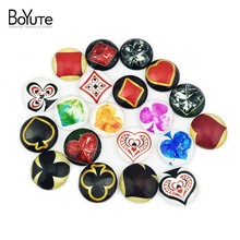 (20 pieces/lot) 20mm round Pattern cabochon mix poker/cat/Magic circle/girl image glass cabochon blank pendant cover xl6775