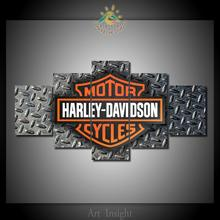 Harley Davidson 5 Pieces/set Wall Art For Wall Decor Home Decoration Picture Paint on Canvas Prints Painting for Living Room