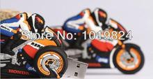 100% real capacity Cartoon motorcycle mini Memoria  Flashdrive USB Flash Pen Drive Disk Memory Rubber S84