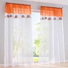 Modern sheer tulle curtains for bedroom window curtains for living room kitchen curtains owl design kids room rideau cortinas
