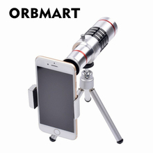 Buy ORBMART Universal Clip Holder 18X Zoom Camera Phone Lens lentes Optical Telescope Telephoto Tripod iPhone 7 7 8 Plus for $27.30 in AliExpress store