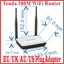 US/EU/UK/AU Plug Tenda N300 Easy Install 300M WiFi 300Mbps Wireless Router Broadband AP Router Range Extender 3 100M Ports Prom-(China)