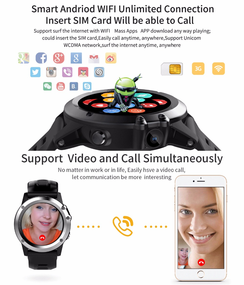 EnohpLX H1 android 4.4 Smart watch waterproof android 1.39inch mtk6572 SmartWatch phone support 3G wifi GPS nano SIM GSM WCDMA