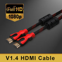 Hdmi Cable 1.5M/5ft High speed Gold Plated Plug Male-Male HDMI Cable 1.4 Version w Nylon net 1080p 3D(China)